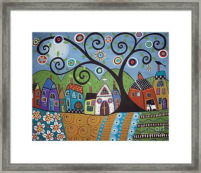 Polkadot Church Framed Print by Karla Gerard