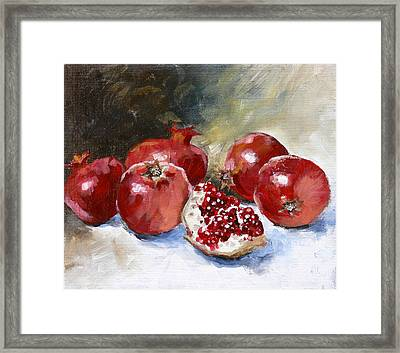 Pomegranate Framed Print by Tanya Jansen