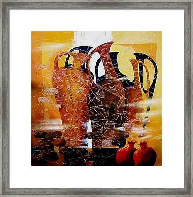 Pomegranates Framed Print by Yelena Revis