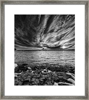 Pomham B-w Framed Print by Bryan Bzdula
