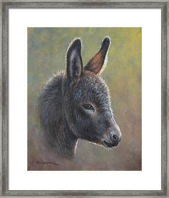 Poncho Framed Print by Kim Lockman