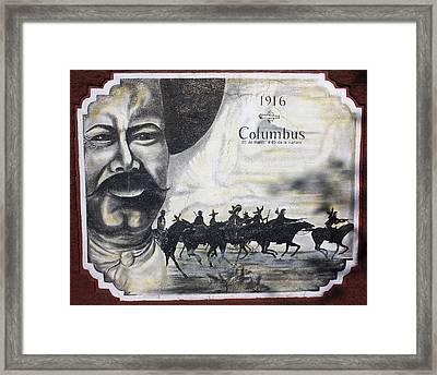 Poncho Villas Raid On Columbus New Mexico Framed Print by Kurt Van Wagner