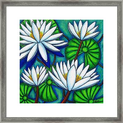 Pond Jewels Framed Print by Lisa  Lorenz