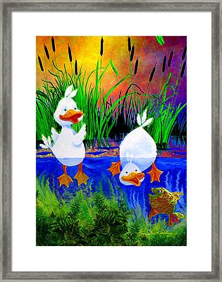 Pond Pals Framed Print by Hanne Lore Koehler