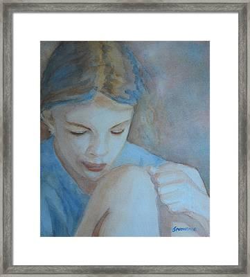 Pondering Framed Print by Jenny Armitage