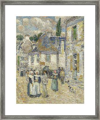 Pont-aven Framed Print by Childe Hassam