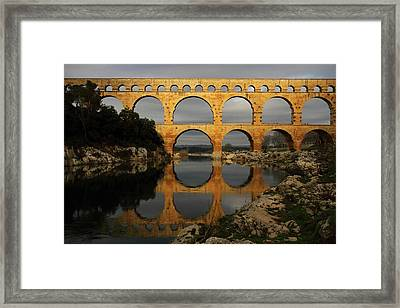 Pont Du Gard Framed Print by Boccalupo Photography