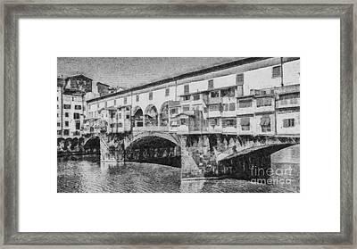 Ponte Vecchio Framed Print by Edward Fielding