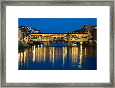 Ponte Vecchio Framed Print by Frozen in Time Fine Art Photography