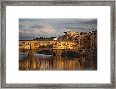 Ponte Vecchio Reflection Framed Print by Chris Fletcher