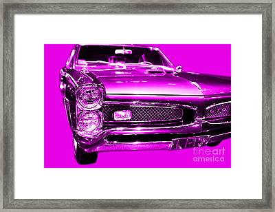 Pontiac Gto Magenta Framed Print by Wingsdomain Art and Photography