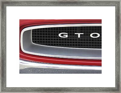 Pontiac Gto  Framed Print by Mike McGlothlen