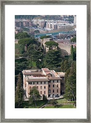 Pontificio Collegio Etiopico Pontifical Ethiopian College Vatican City Gardens Rome Italy Framed Print by Andy Smy