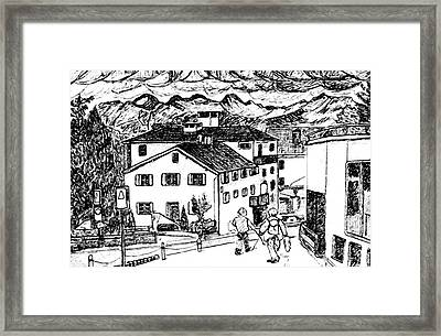 Pontresina Switzerland Framed Print by Monica Engeler