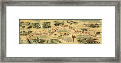 Pony Express Route April 1860 - October Framed Print by Everett
