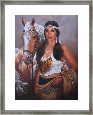 Pony Maiden Framed Print by Harvie Brown
