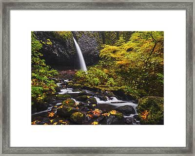 Ponytail Falls Autumn Framed Print by Vishwanath Bhat