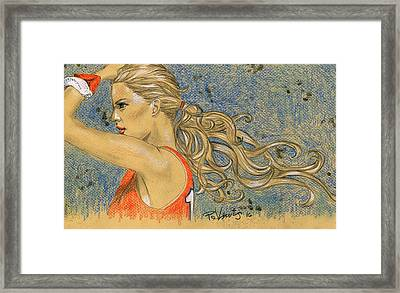 Ponytail Run Framed Print by P J Lewis