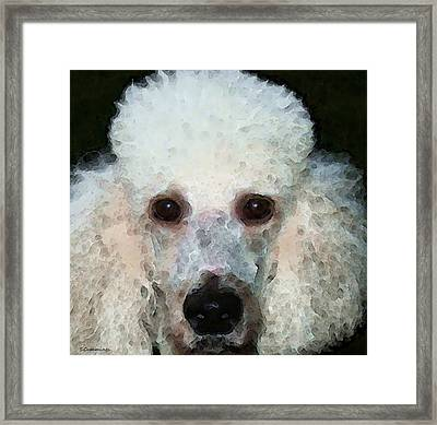 Poodle Art - Noodles Framed Print by Sharon Cummings