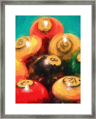 Pool Balls  Framed Print by Dan Sproul
