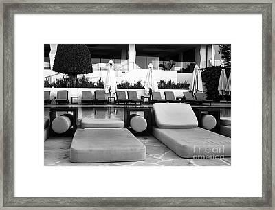 Pool Life Framed Print by John Rizzuto