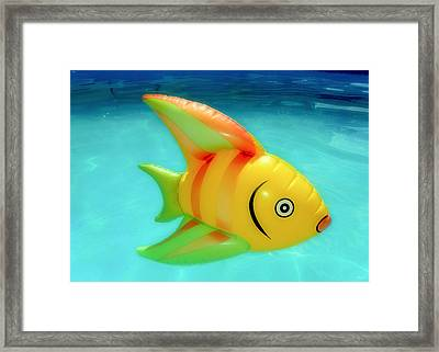 Pool Toy Framed Print by Tony Grider