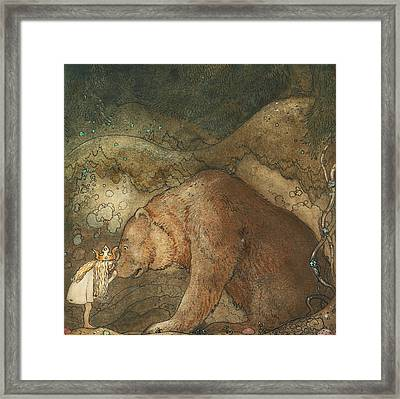 Poor Little Basse Framed Print by John Bauer