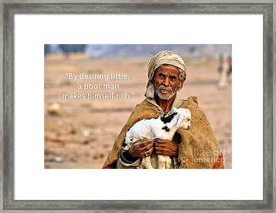 Poor Man Framed Print by Bedros Awak
