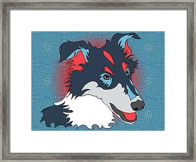 Pop Art Collie - Dog Art - Wpap  Framed Print by Shara Lee