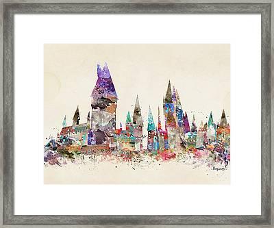 Pop Art Hogwarts Castle Framed Print by Bri B