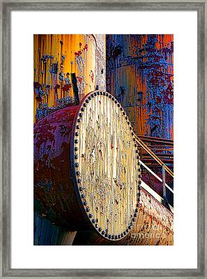 Pop Art Industrial  Framed Print by Olivier Le Queinec