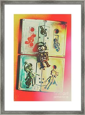 Pop Art Music Robot Framed Print by Jorgo Photography - Wall Art Gallery