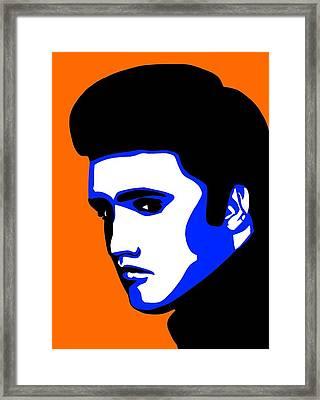 Pop Art Of Elvis Presley Framed Print by Nikita Ryazanow