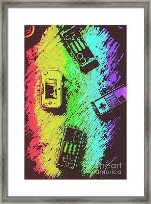 Pop Art Video Games Framed Print by Jorgo Photography - Wall Art Gallery