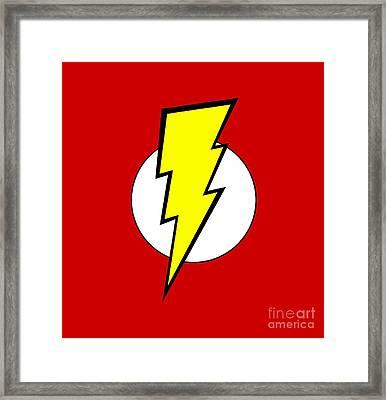 Pop Culture Geek Stuff Lightning Bolt Circle Design Framed Print by Tina Lavoie