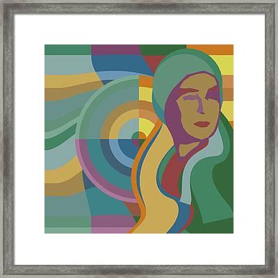 Pop Orphiste - Sonia Delaunay Portrait Framed Print by Big Fat Arts