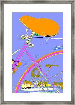 Pop Up Bike In Pastel Colors Framed Print by WALL ART and HOME DECOR