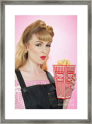 Popcorn Framed Print by Amanda And Christopher Elwell