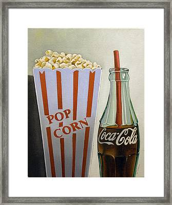 Popcorn And Coke Framed Print by Vic Vicini