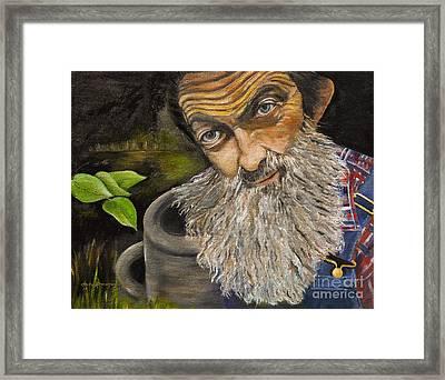 Popcorn Shines - Last Run - Moonshiner Framed Print by Jan Dappen