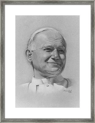 Pope John Paul II Framed Print by Nanybel Salazar