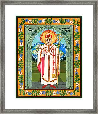 Pope John Xxiii Icon Framed Print by David Raber