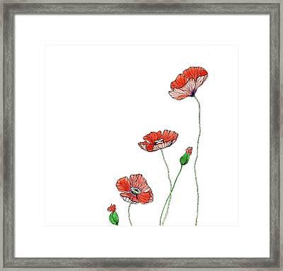 Poppies Framed Print by Elena Vinnikova