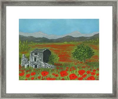 Poppies In Provence  Framed Print by Anastasiya Malakhova