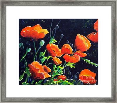 Poppies In The Light Framed Print by Richard T Pranke
