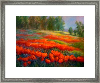 Poppies Framed Print by Patricia Lyle