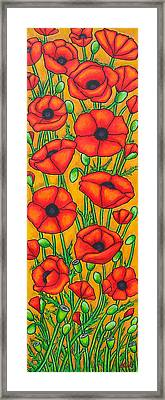 Poppies Under The Tuscan Sun Framed Print by Lisa  Lorenz
