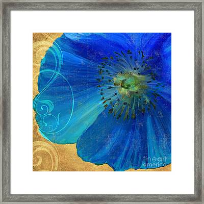 Poppy Blues II Framed Print by Mindy Sommers