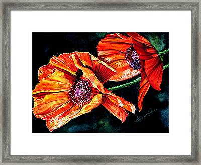 Poppy Passion Framed Print by Hanne Lore Koehler