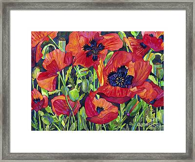 Poppy Profusion Framed Print by Barb Pearson